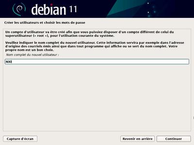 Debian 11 Bullseye installeur