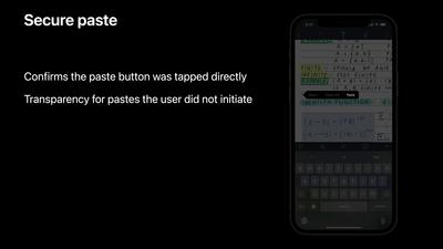 Apple Secure Paste WWDC 2021