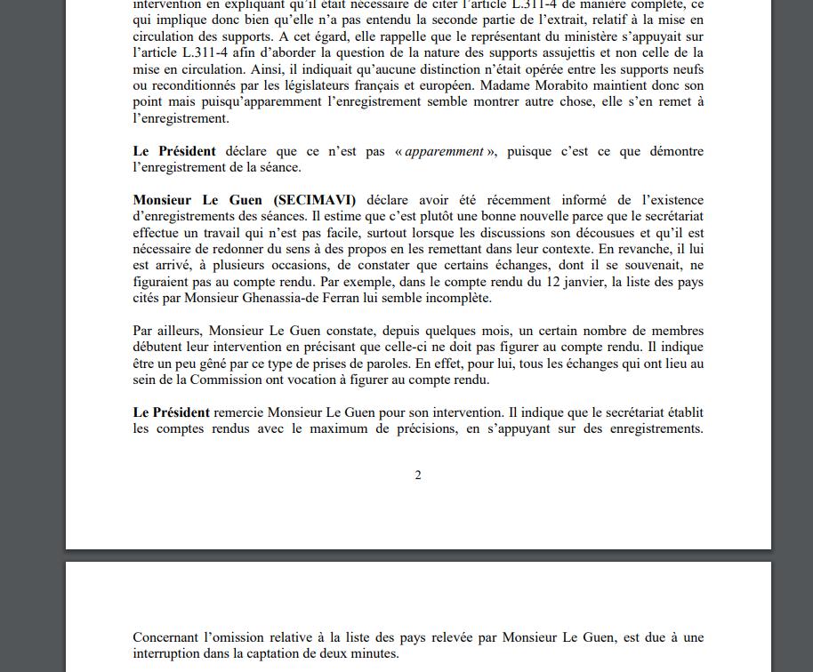 ministère culture commission copie privée enregistrements