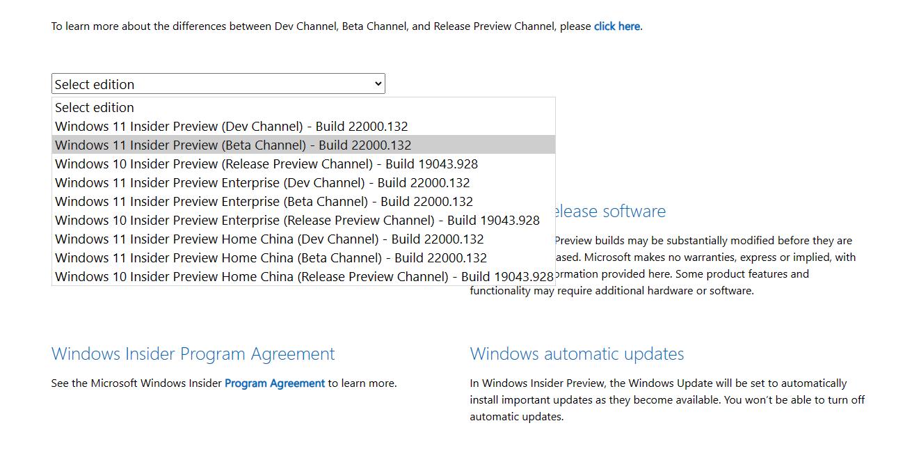 Windows 11 Insiders Beta Téléchargement