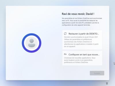 Windows 11 Post-installation OneDrive