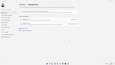Windows 11 Restauration du système