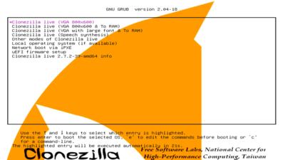 Clonezilla Boot