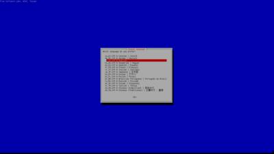 Clonezilla Choix des paramètres du clavier