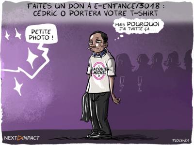 Faites un don à e-Enfance/3018, Cédric O portera votre t-shirt