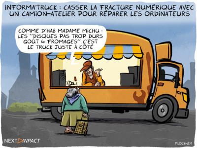 Informa'truck : casser la fracture numérique avec un camion-atelier pour réparer les ordinateurs