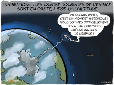 Inspiration4 : les quatre touristes de l'espace sont en orbite, à 585 km d'altitude
