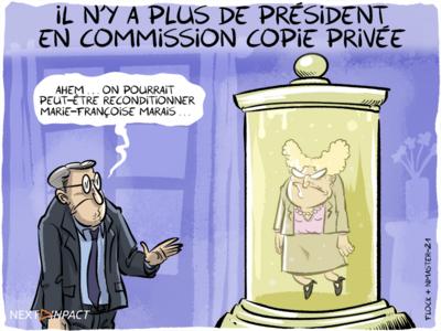 Il n'y a plus de président en Commission Copie privée