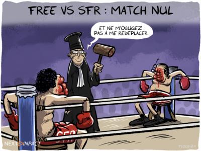 En appel, le combat de coqs entre Free et SFR se termine à égalité