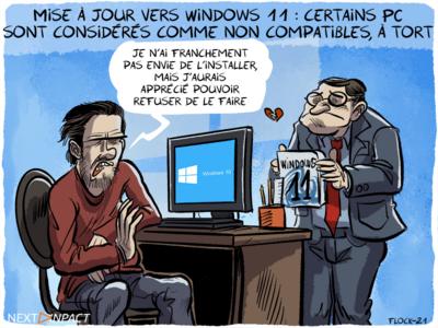 Mise à jour vers Windows 11 : certains PC sont considérés comme non compatibles, à tort